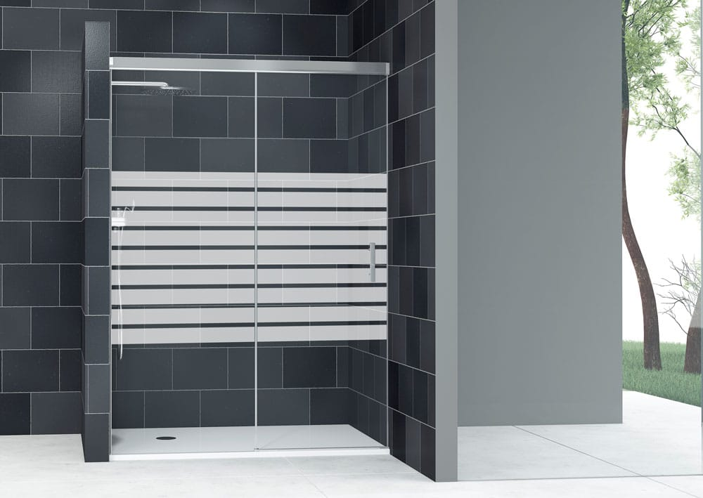 Acquaban mampara ducha modelo 10-1 plata