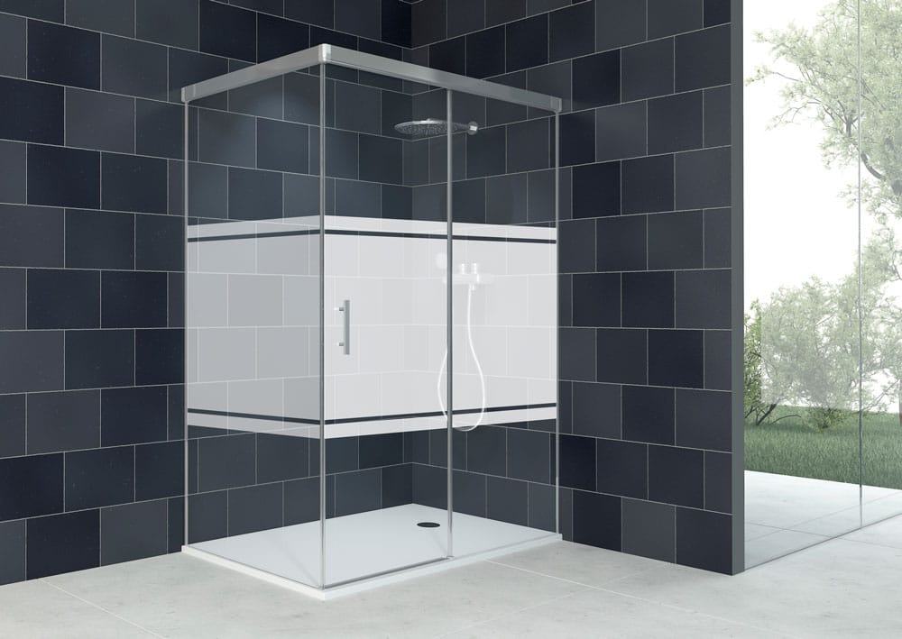 Acquaban mampara ducha modelo 10-2 plata