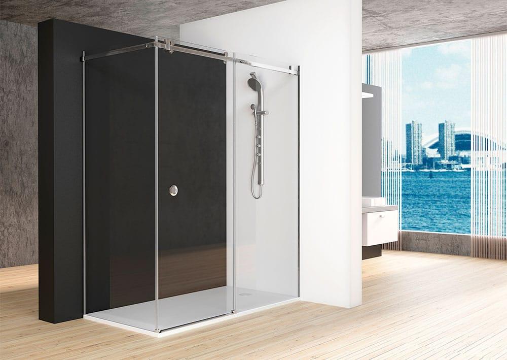 Acquaban mampara ducha modelo 20-2 acero