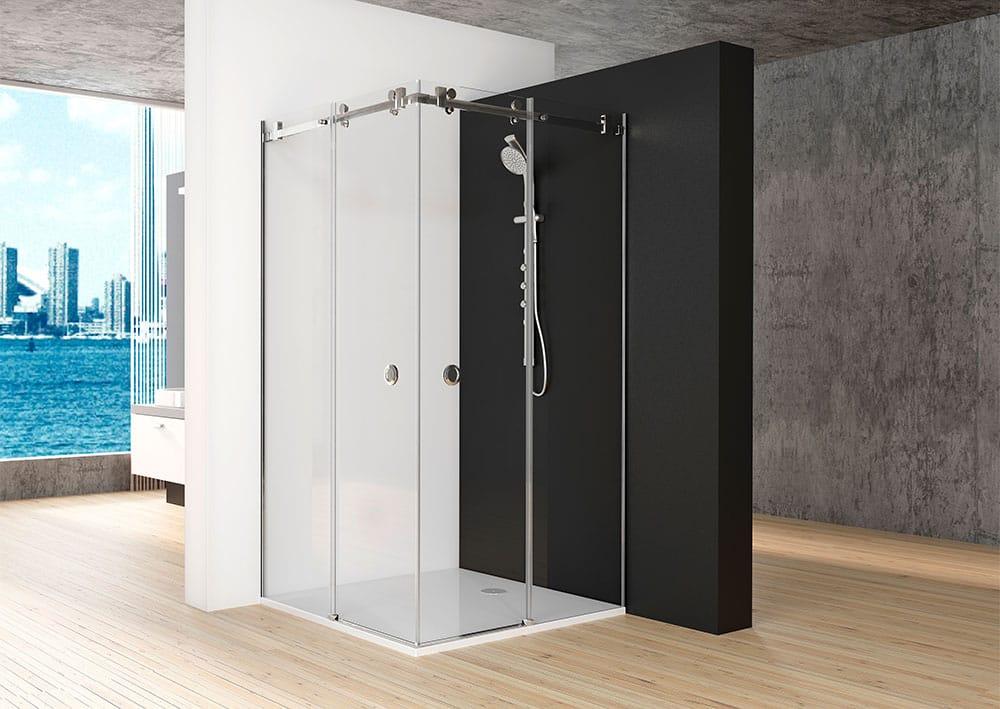 Acquaban mampara ducha modelo 20-5 acero