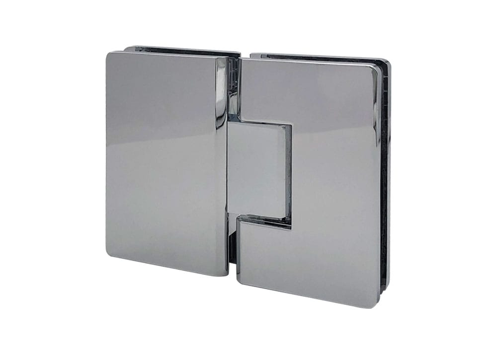 Bisagra doble acción, vidrio-vidrio